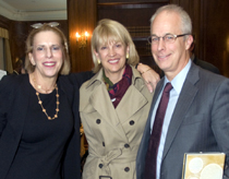 Trustee Ellen M. Iseman, Kathryn Berry, and Chairman of the Board Charles G. Berry.