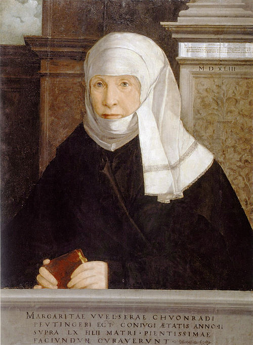 Margarete Welser by Christoph Ambergers, 1543.