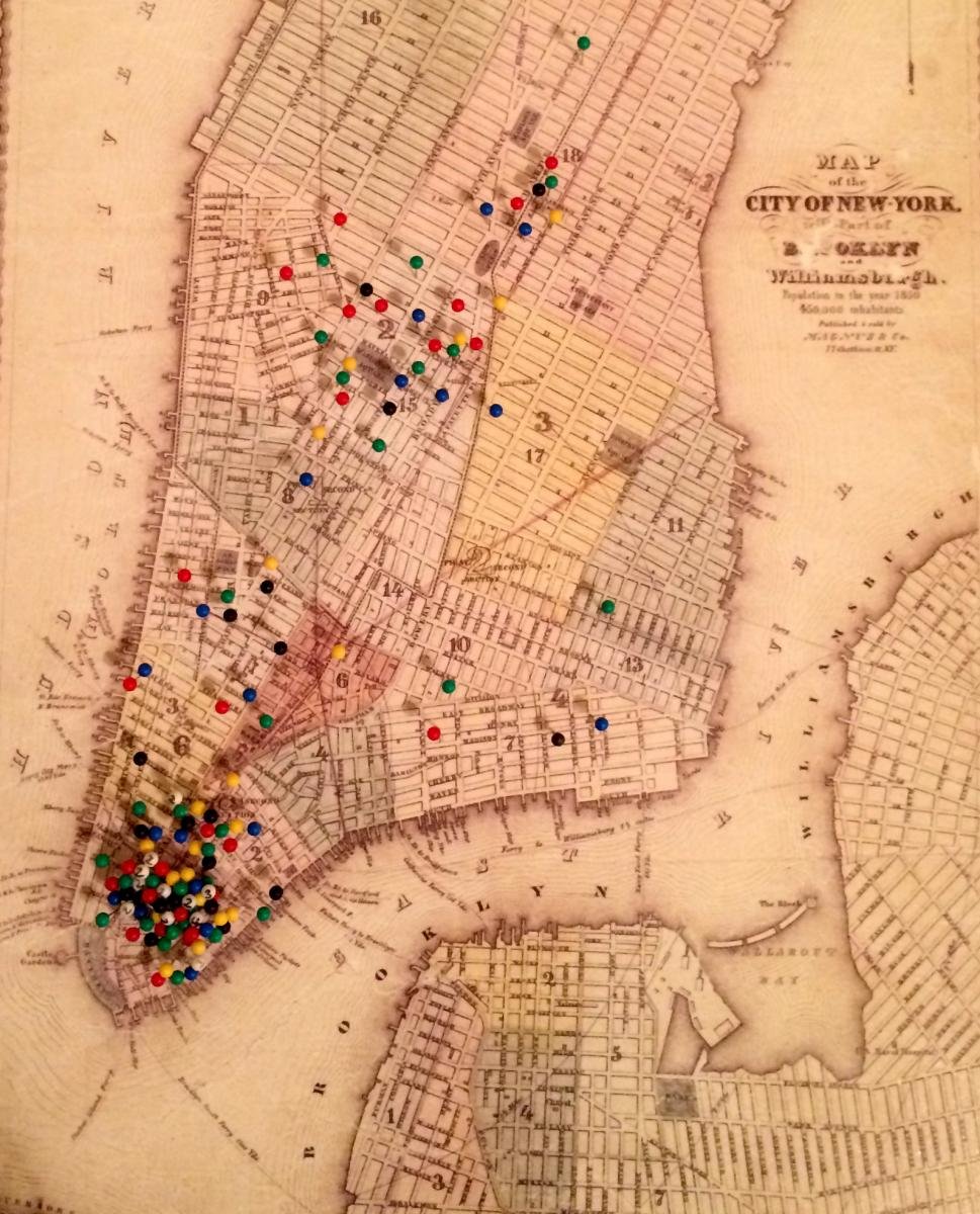 Map of New York in Melville's Time