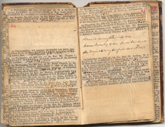 NYC Marriage & Death Notices 1843-1856 | New York Society Library