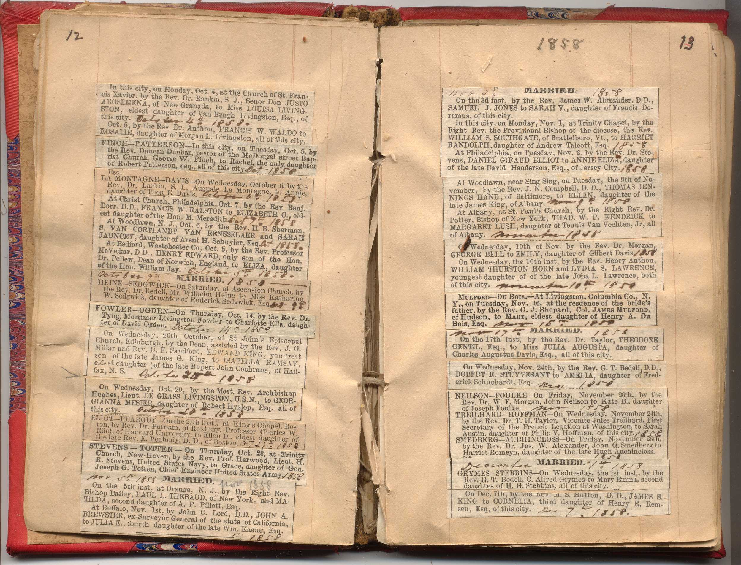 New Brighton Ford >> NYC Marriage & Death Notices 1857-1868 | New York Society Library