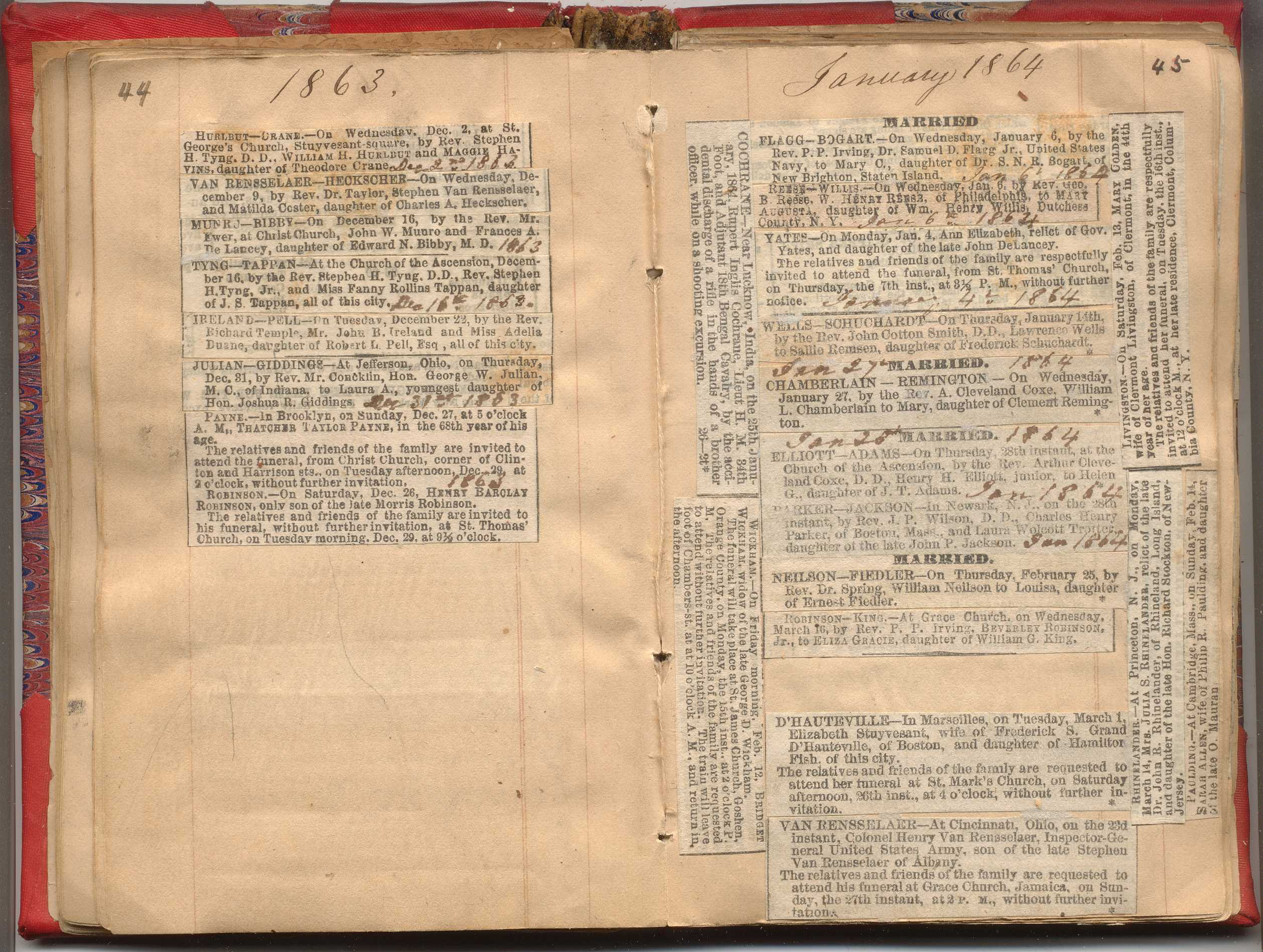 NYC Marriage & Death Notices 1857-1868   New York Society Library
