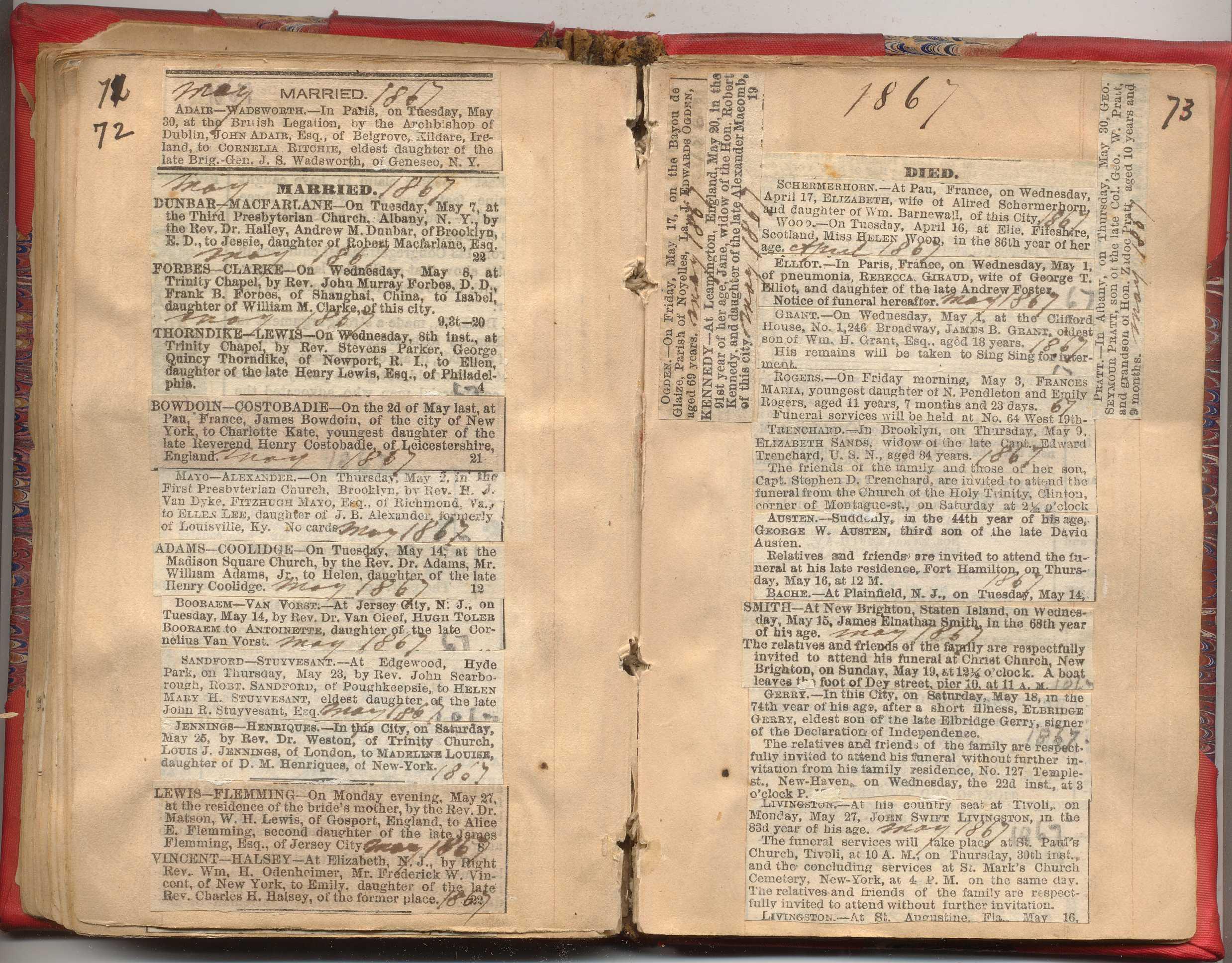 NYC Marriage   Death Notices 1857-1868  a27aef677