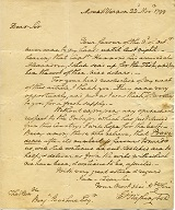 Letter from George Washington in Library's special collections.