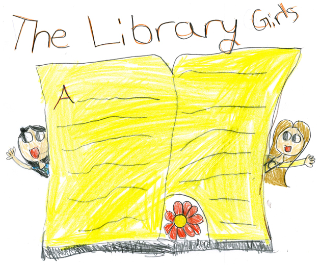 Library Girls illustration 1