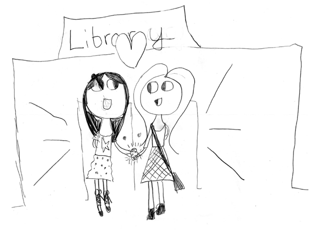 Library Girls illustration 2
