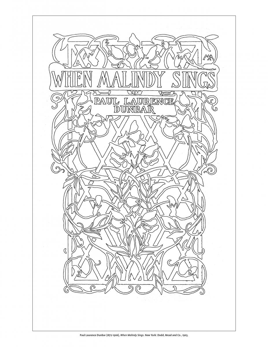Image of page from Margaret Armstrong coloring book.
