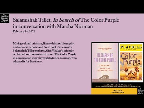 Embedded thumbnail for Salamishah Tillet, In Search of The Color Purple: The Story of an American Masterpiece, in conversation with Marsha Norman