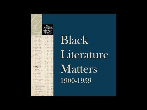 Embedded thumbnail for Black Literature Matters: 1900-1959