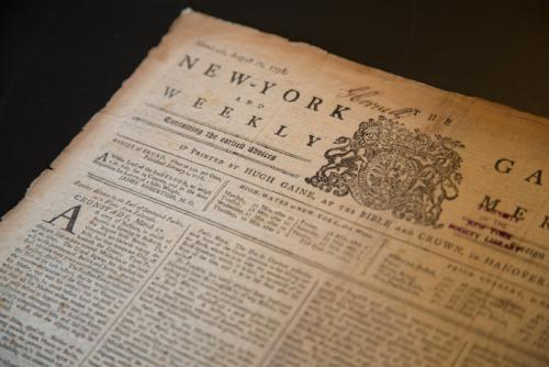 New-York Gazette and the Weekly Mercury, 10 August 1788. New York: Hugh Gaine.