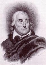 An engraved portrait of Lorenzo da Ponte by Michele Pekenino, after Nathaniel Rogers.