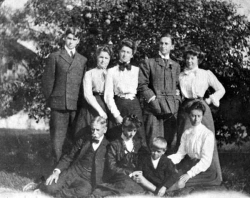 The Armstrong Family, c.1910. Front row, left to right: Maitland Armstrong, Helen Armstrong, Hamilton Armstrong, Margaret Armstrong.
