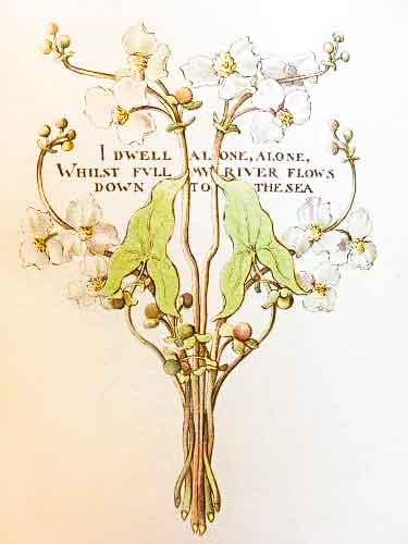 An illustration by Margaret Armstrong for Elizabeth Barrett Browning's Sonnets from the Portuguese.