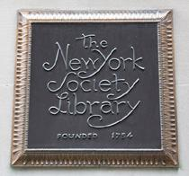 The New York Society Library Plaque