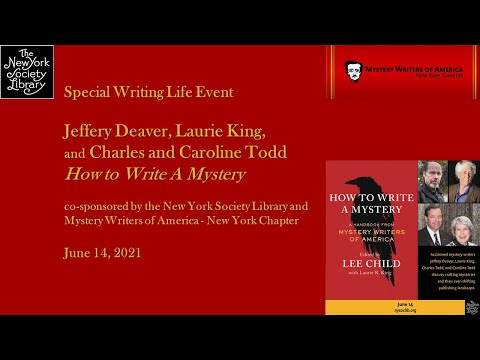 Embedded thumbnail for Panel: Jeffery Deaver, Laurie King, and Charles and Caroline Todd, How to Write A Mystery (co-sponsored with Mystery Writers of America - New York Chapter)
